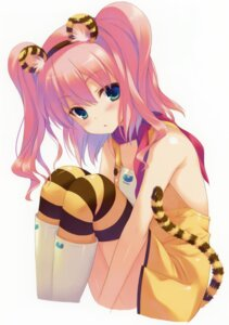 Rating: Questionable Score: 53 Tags: animal_ears dress no_bra ohara_tometa qp:flapper tail thighhighs User: Bulzeeb