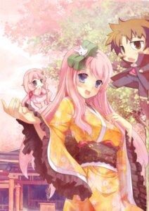Rating: Safe Score: 28 Tags: baka_to_test_to_shoukanjuu chibi himeji_mizuki kimono lolita_fashion spirtie wa_lolita User: hobbito