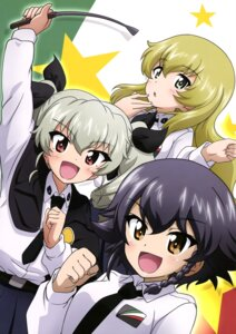 Rating: Safe Score: 10 Tags: anchovy carpaccio girls_und_panzer kanau pepperoni possible_duplicate uniform User: drop