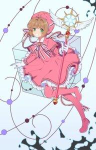 Rating: Safe Score: 8 Tags: card_captor_sakura dress duximeng kinomoto_sakura thighhighs weapon User: RyuZU
