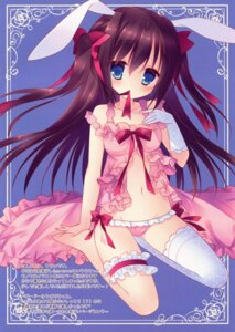 Rating: Questionable Score: 55 Tags: animal_ears bunny_ears garter lingerie pantsu sumii thighhighs User: back07