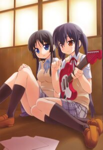 Rating: Safe Score: 17 Tags: akiyama_mio bakutendou guitar k-on! nakano_azusa seifuku User: blooregardo