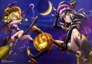 Rating: Questionable Score: 45 Tags: cleavage halloween heels ichikawa_yoshiyuki oribe_ayane pantsu shinomori_maya star_plus_one witch User: drop