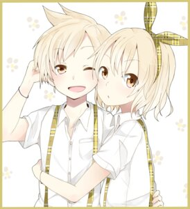 Rating: Safe Score: 18 Tags: kagamine_len kagamine_rin pun2 vocaloid User: Nekotsúh