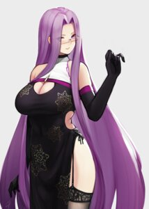 Rating: Safe Score: 43 Tags: chinadress cleavage fate/stay_night hayabusa megane rider stockings thighhighs User: Mr_GT