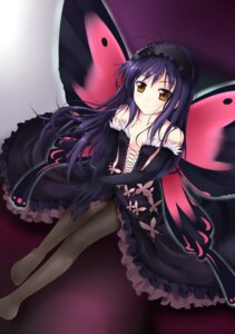 Rating: Safe Score: 59 Tags: accel_world cleavage dress kuroyukihime pantyhose qiuzhi_huiyi wings User: charunetra