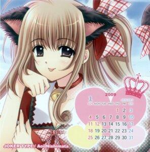 Rating: Safe Score: 7 Tags: animal_ears calendar nekomimi nishimata_aoi User: syaoran-kun