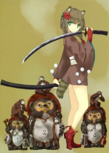 Rating: Safe Score: 29 Tags: animal_ears nabeshima_tetsuhiro sword tail User: midzki
