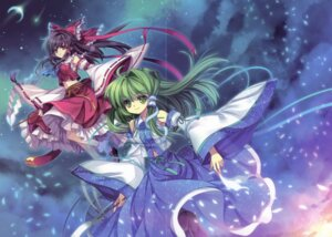 Rating: Safe Score: 15 Tags: capura.l crease eternal_phantasia fixme hakurei_reimu kochiya_sanae touhou User: midzki