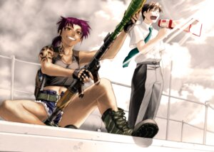 Rating: Safe Score: 6 Tags: black_lagoon gun hiroe_rei revy rock tattoo User: Radioactive