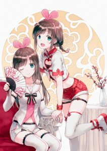 Rating: Safe Score: 81 Tags: a.i._channel asian_clothes cleavage garter hiten kizuna_ai thighhighs User: hiroimo2