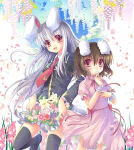 Rating: Safe Score: 21 Tags: animal_ears bunny_ears inaba_tewi reisen_udongein_inaba sousouman thighhighs touhou User: fairyren