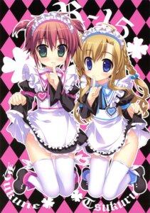 Rating: Questionable Score: 41 Tags: fujima_takuya kagaku_tsukuru maid narukara_fukune nopan r-15 thighhighs User: crim