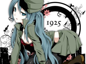 Rating: Safe Score: 33 Tags: 1925_(vocaloid) bra hatsune_miku pantyhose thighhighs uniform vocaloid yayoi User: Nekotsúh