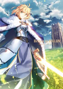 Rating: Safe Score: 30 Tags: armor dress fate/stay_night saber sword takeuchi_takashi type-moon User: kiyoe