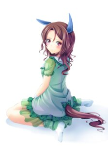 Rating: Safe Score: 20 Tags: animal_ears dress king_halo see_through tail uma_musume_pretty_derby yumibakama_meme User: Spidey