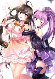 Rating: Safe Score: 13 Tags: aisha_(elsword) dress elsword tagme thighhighs xes_(xes_5377) User: BattlequeenYume