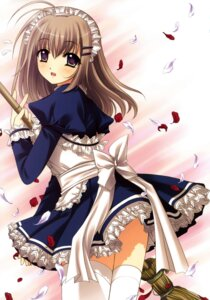 Rating: Safe Score: 27 Tags: maid nishimata_aoi thighhighs User: fireattack