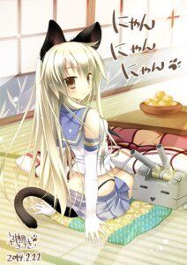 Rating: Safe Score: 56 Tags: animal_ears kanna_satsuki kantai_collection nekomimi rensouhou-chan shimakaze_(kancolle) tail User: fairyren