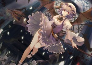 Rating: Safe Score: 55 Tags: blood dress piclic remilia_scarlet touhou weapon wings User: Mr_GT