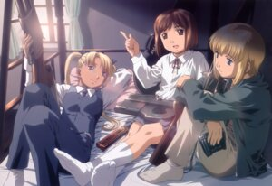 Rating: Safe Score: 13 Tags: gun gunslinger_girl henrietta_(gunslinger_girl) rico_(gunslinger_girl) triela User: vita