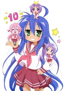 Rating: Safe Score: 28 Tags: chibi hiiragi_kagami hiiragi_tsukasa izumi_konata lucky_star megane pantyhose seifuku takara_miyuki User: drop