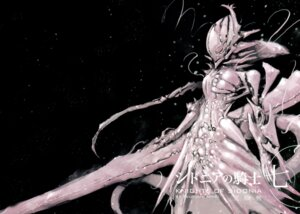 Rating: Safe Score: 44 Tags: gun knights_of_sidonia mecha_musume monster_girl shiraui_tsumugi tsutomu_nihei weapon User: Radioactive