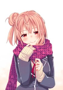 Rating: Safe Score: 51 Tags: akino_sora seifuku sweater yahari_ore_no_seishun_lovecome_wa_machigatteiru. yuigahama_yui User: Mr_GT