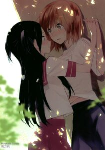 Rating: Safe Score: 53 Tags: gym_uniform minakata_sunao seifuku shirt_lift yuri User: Radioactive