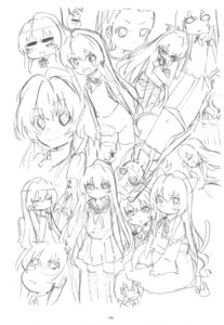 Rating: Safe Score: 3 Tags: aisaka_taiga expression monochrome sato satosute sketch toradora! User: Radioactive