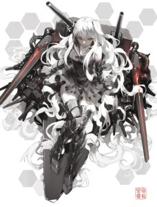 Rating: Safe Score: 42 Tags: aircraft_carrier_oni kantai_collection nine thighhighs User: KazukiNanako