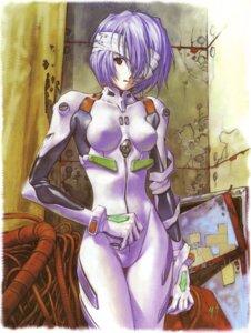 Rating: Safe Score: 18 Tags: ayanami_rei bodysuit neon_genesis_evangelion sadamoto_yoshiyuki User: Radioactive