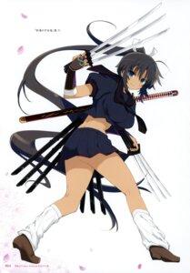 Rating: Questionable Score: 15 Tags: homura_(senran_kagura) seifuku senran_kagura sword weapon yaegashi_nan User: kiyoe