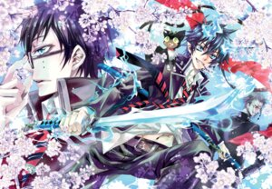 Rating: Safe Score: 9 Tags: ao_no_exorcist kuro_(ao_no_exorcist) lee_sun-young okumura_rin okumura_yukio User: hobbito
