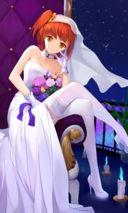 Rating: Safe Score: 39 Tags: cleavage dress fate/grand_order female_protagonist_(fate/grand_order) fujimaru_ritsuka heels kyoukai33 stockings thighhighs wedding_dress User: charunetra