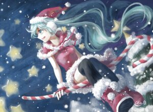 Rating: Safe Score: 13 Tags: christmas dress hatsune_miku neeta thighhighs vocaloid User: Mr_GT