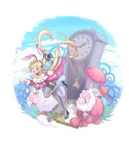 Rating: Questionable Score: 11 Tags: alice_in_wonderland animal_ears bunny_ears bunny_girl garter heels megane no_bra open_shirt pantyhose tail tifaices User: Dreista