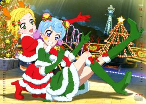 Rating: Questionable Score: 15 Tags: aikatsu! animal_ears calendar christmas doujima_nina dress heels horns sakai_kasumi shinjou_hinaki tail User: drop