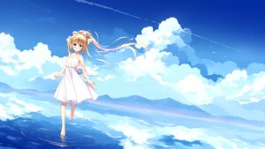 Rating: Safe Score: 63 Tags: air dress kamio_misuzu landscape summer_dress wallpaper xia_xiang_(ozicha) User: RyuZU