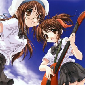 Rating: Safe Score: 10 Tags: guitar megane miyama-zero pantsu seifuku User: midzki