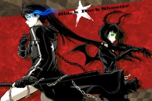 Rating: Safe Score: 11 Tags: black_rock_shooter black_rock_shooter_(character) dead_master horns itou_(onnsokutassha) sword vocaloid wings User: Radioactive