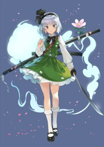 Rating: Safe Score: 33 Tags: konpaku_youmu matsukichiii sword touhou User: Mr_GT