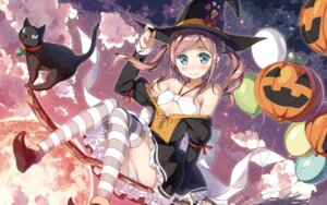 Rating: Questionable Score: 94 Tags: bikini_top cameltoe chiyoda_momoka dress halloween kantoku koi_suru_kanojo_no_bukiyou_na_butai neko open_shirt pantsu thighhighs wallpaper witch User: edogawaconan