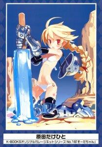 Rating: Safe Score: 31 Tags: armor bikini harada_takehito swimsuits sword thighhighs User: Aurelia