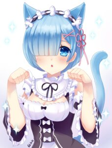 Rating: Safe Score: 75 Tags: animal_ears cleavage felicia-val maid nekomimi re_zero_kara_hajimeru_isekai_seikatsu rem_(re_zero) tail User: Mr_GT