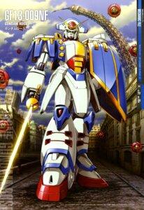 Rating: Safe Score: 7 Tags: g_gundam gun gundam maeda_seimei mecha sword weapon User: drop