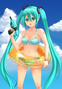 Rating: Safe Score: 5 Tags: bikini blue_peia gun hatsune_miku swimsuits vocaloid User: charunetra