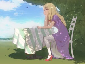 Rating: Safe Score: 27 Tags: dress heels maredoro pantyhose touhou wallpaper yakumo_yukari User: Mr_GT