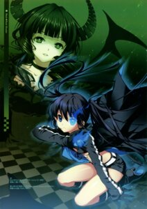 Rating: Safe Score: 52 Tags: bikini_top black_rock_shooter black_rock_shooter_(character) dead_master dmyo dress horns snow_ring vocaloid User: midzki