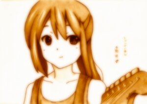 Rating: Safe Score: 4 Tags: godees guitar k-on! monochrome nakano_azusa User: charunetra